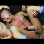 【ゲイ動画】ガテン系の雄臭い肉便器野郎が手枷や首枷で固定されたまま犯されたりザーメンを身体中にぶっかけられ陵辱される!
