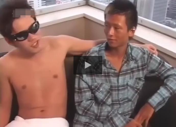 【無修正ゲイ動画】超高層階の素敵なホテルの部屋でチンピラ風の男がアナルセックスで相手の男を犯しまくる!