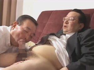 【ゲイ動画】真面目に働いていそうな初老の2人の男が愛撫を楽しんでからアナルセックスで昇天をしちゃう!
