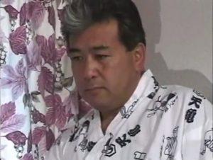 渋いおじさん_オナニー_着流し_射精_ゲイ画像1