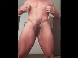 【ツイッターゲイ動画】乳首が性器以上にモロ感のマッチョがチンポに一切触れないチクニーでノーハンドで絶頂する!