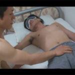 【無修正ゲイ動画】ノンケの男が美女に愛撫をされていると途中で目隠しをされて男に犯されてしまう!